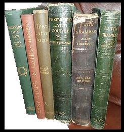Vintage 19th century latin grammar books . . . the source of Captura